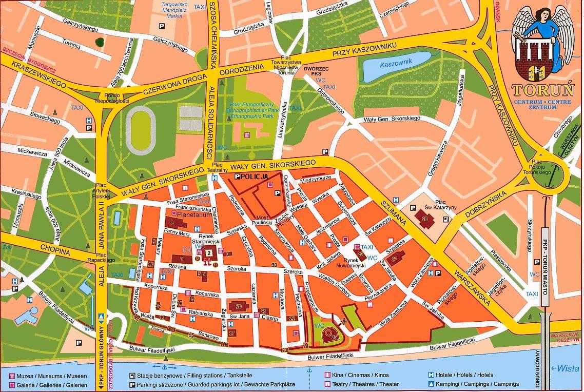 Torun Mapa
